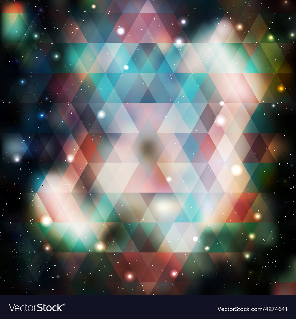 Galaxy background of triangle shapes vector | Price: 1 Credit (USD $1)