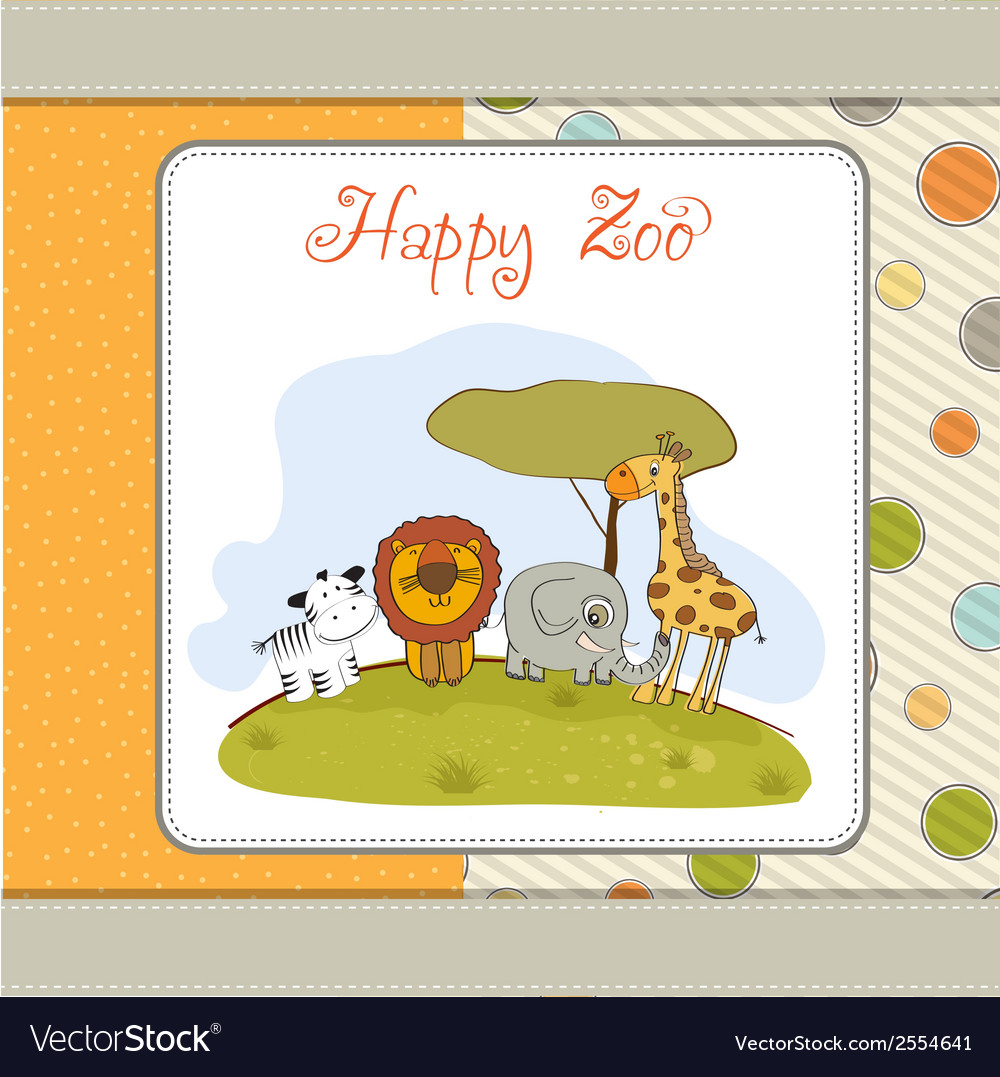 Happy zoo vector | Price: 1 Credit (USD $1)