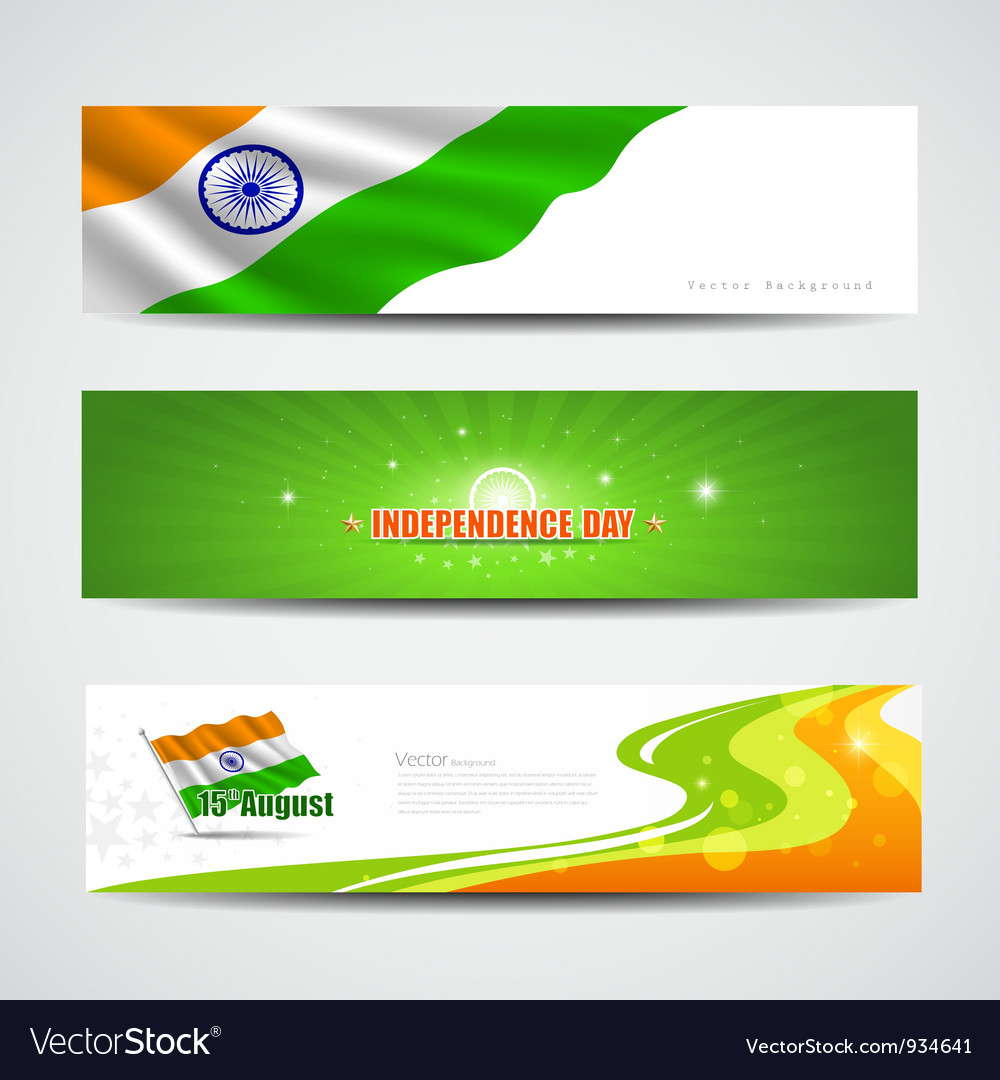 India independence day banner background vector | Price: 1 Credit (USD $1)