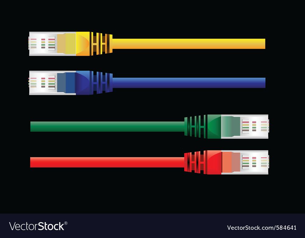 Internet cables vector | Price: 1 Credit (USD $1)