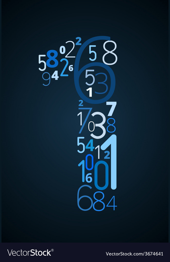 Number 1 font from numbers vector | Price: 1 Credit (USD $1)