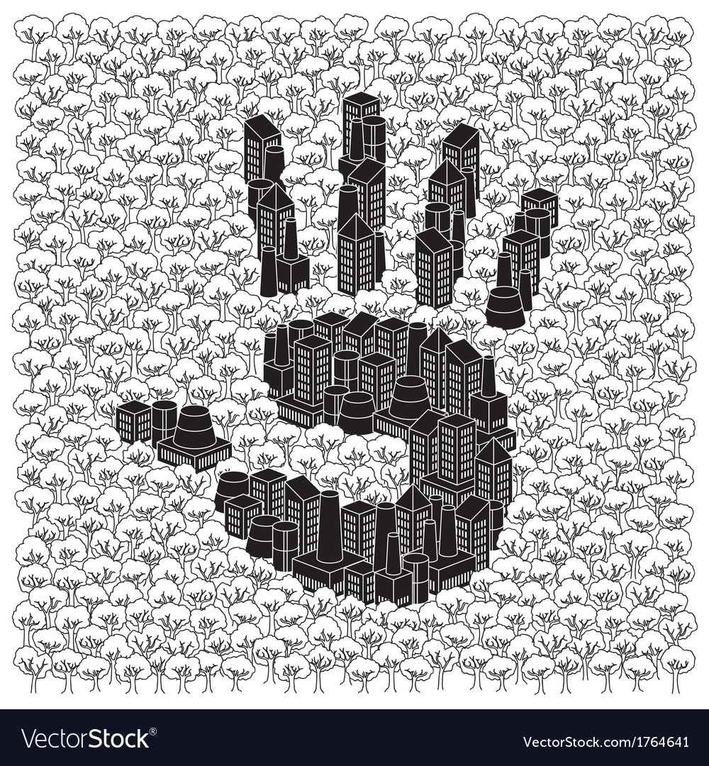 Save the forests concept hand print vector | Price: 1 Credit (USD $1)