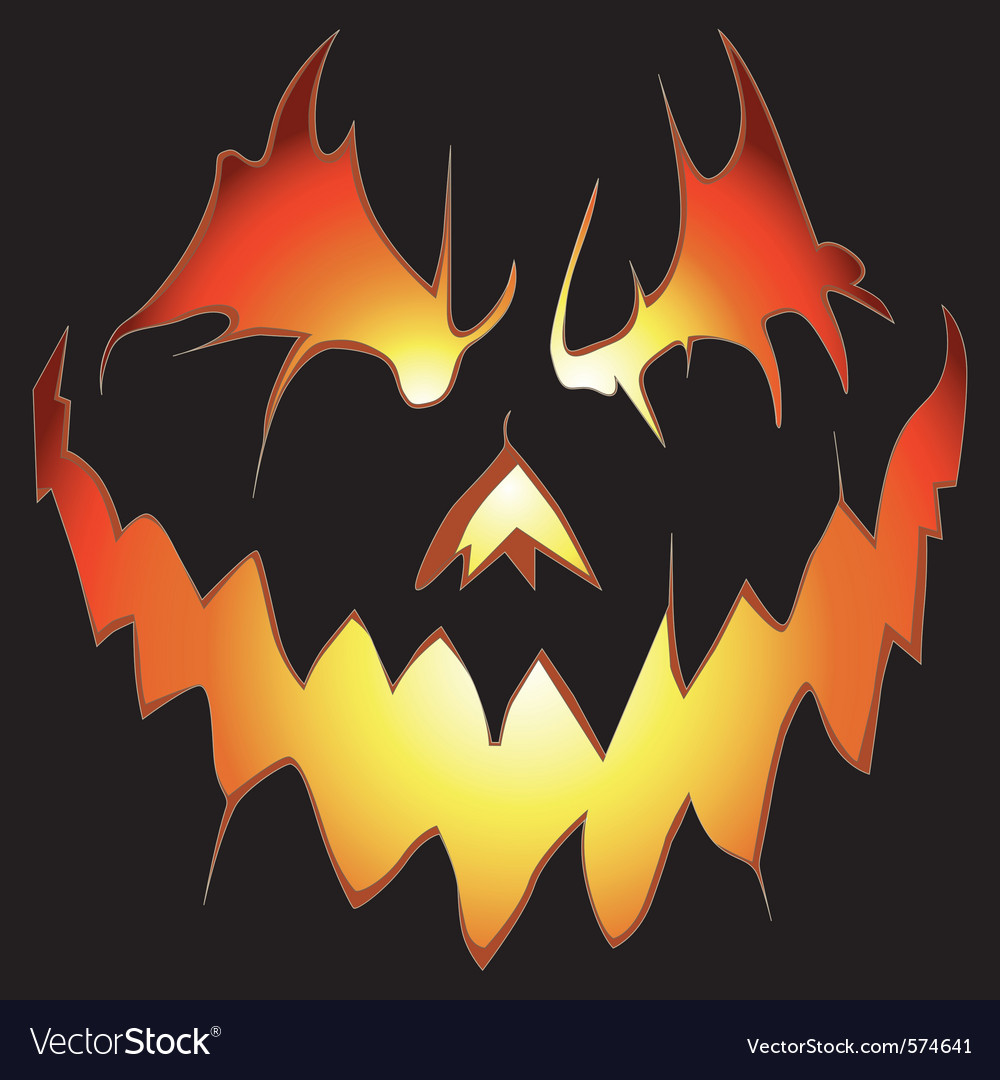 Scary pumpkin vector | Price: 1 Credit (USD $1)