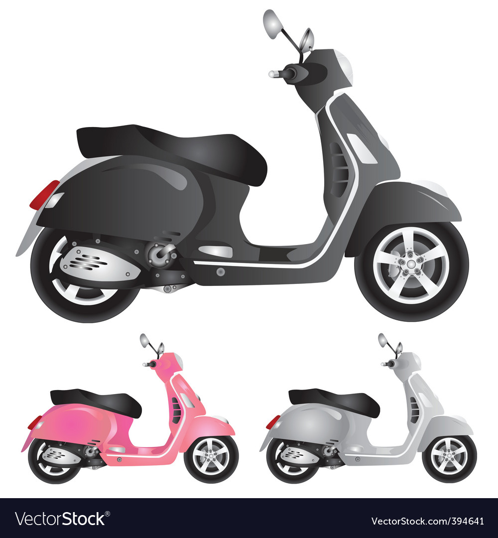 Scooter illustration vector | Price: 1 Credit (USD $1)