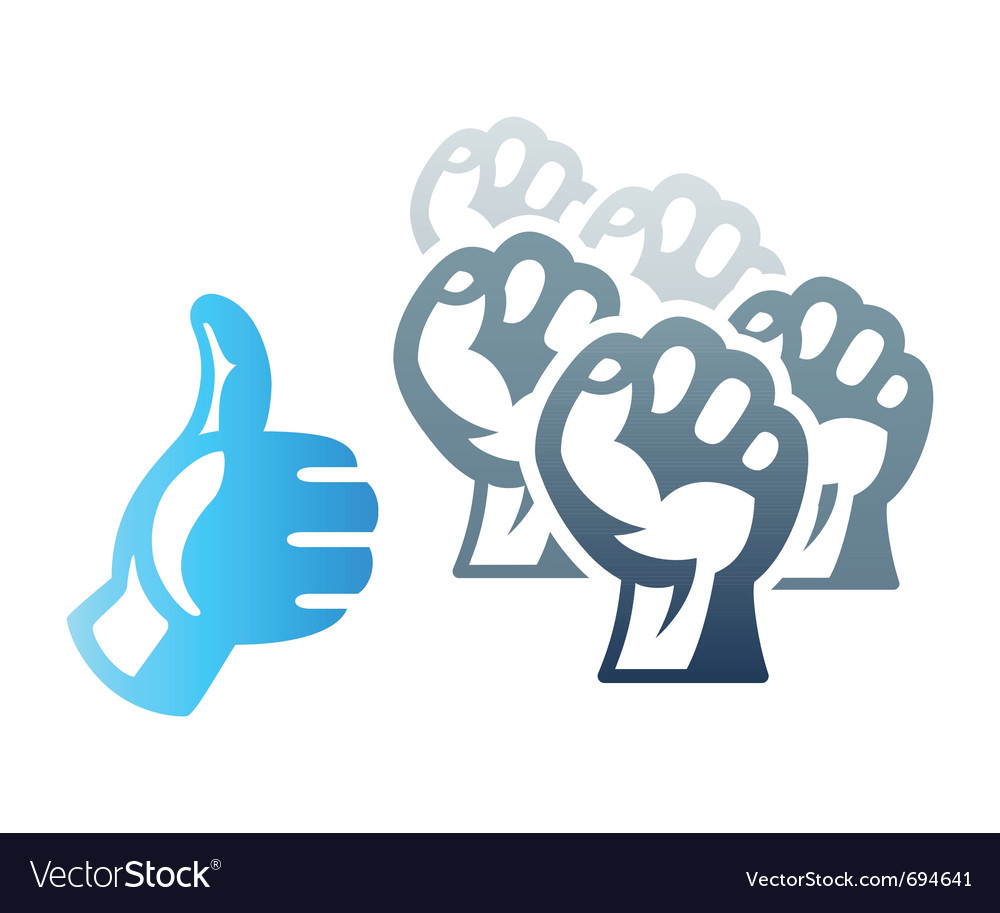 Social protest vector | Price: 1 Credit (USD $1)