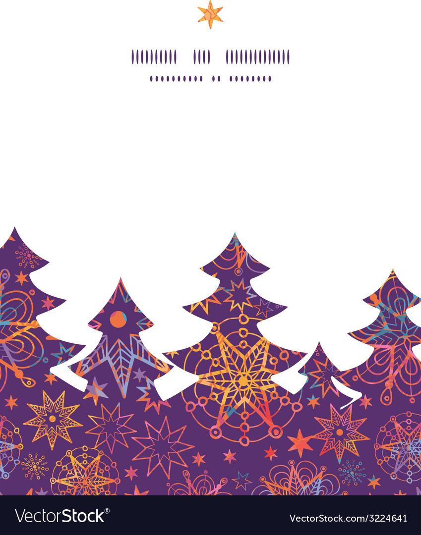 Textured christmas stars christmas tree silhouette vector | Price: 1 Credit (USD $1)