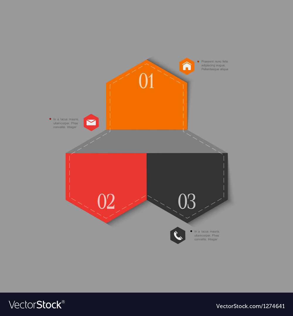 Trendy design template for infographics vector | Price: 1 Credit (USD $1)