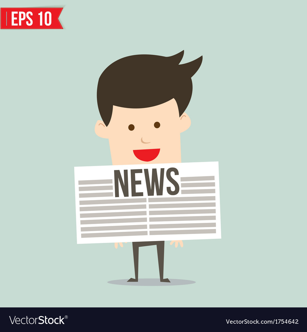 Business man show news board - - eps10 vector | Price: 1 Credit (USD $1)