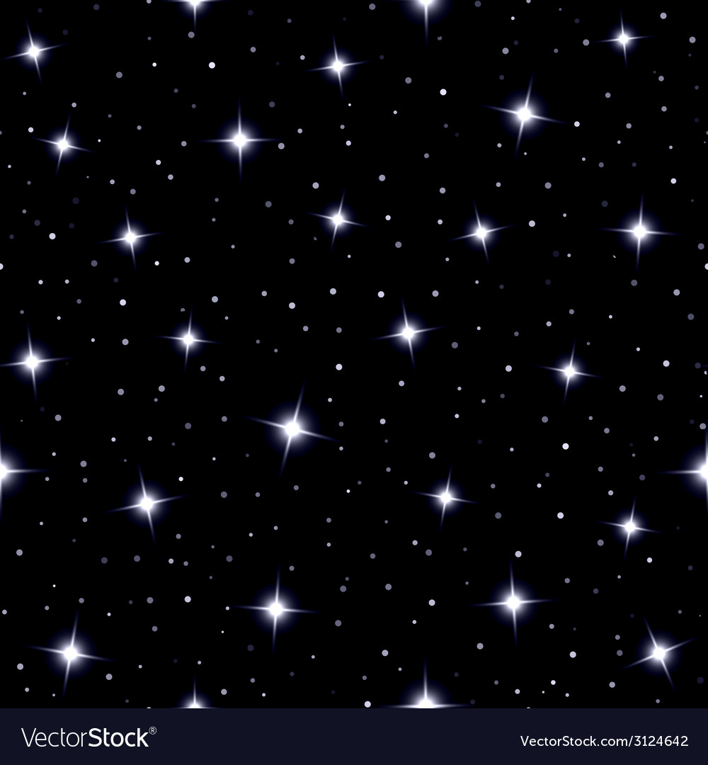 Celestial seamless background with sparkling stars vector | Price: 1 Credit (USD $1)