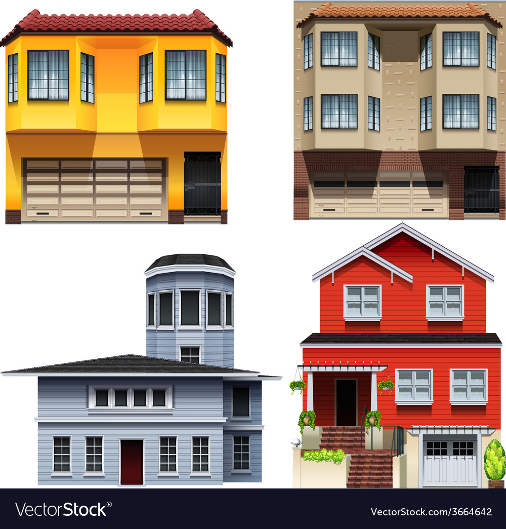 Different building designs vector | Price: 3 Credit (USD $3)