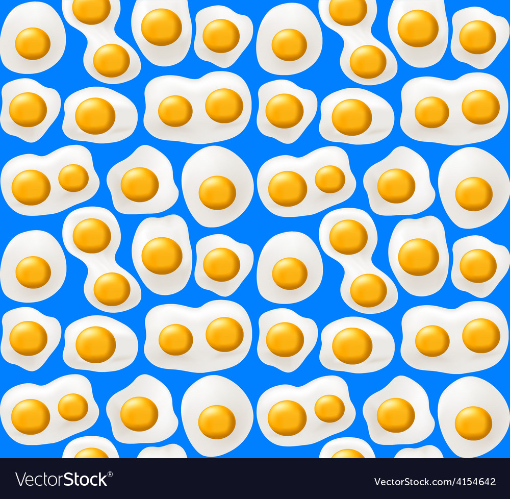 Fried eggs seamless background vector | Price: 1 Credit (USD $1)