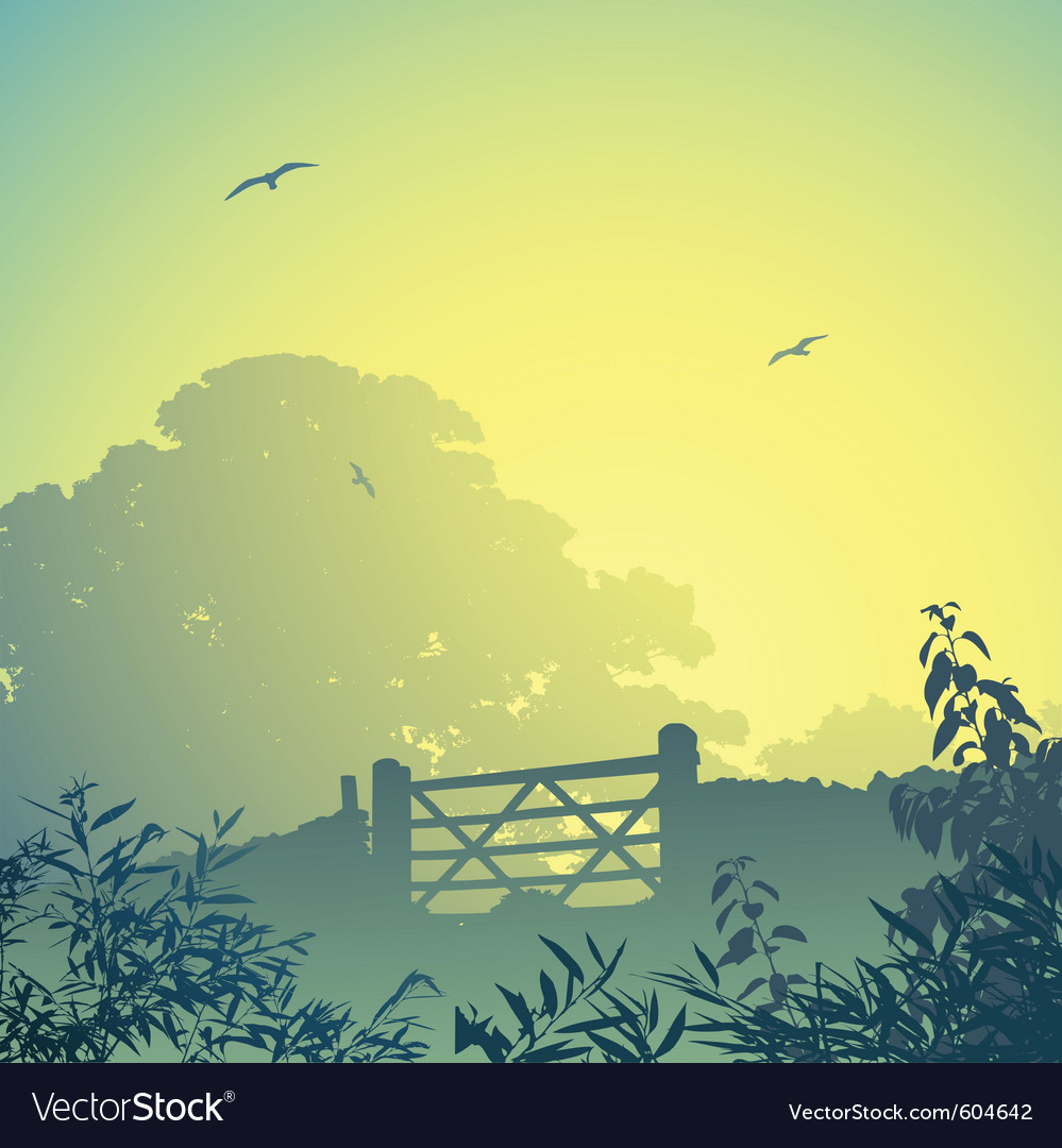 Gate and wall vector | Price: 3 Credit (USD $3)