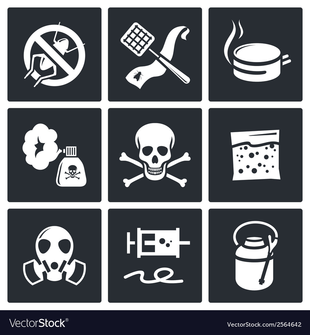 No insects icon collection vector | Price: 1 Credit (USD $1)