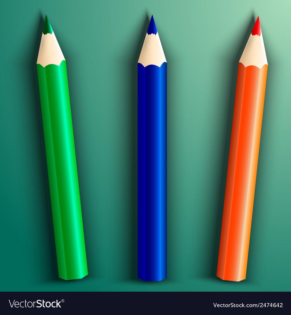 School color pencils vector | Price: 1 Credit (USD $1)
