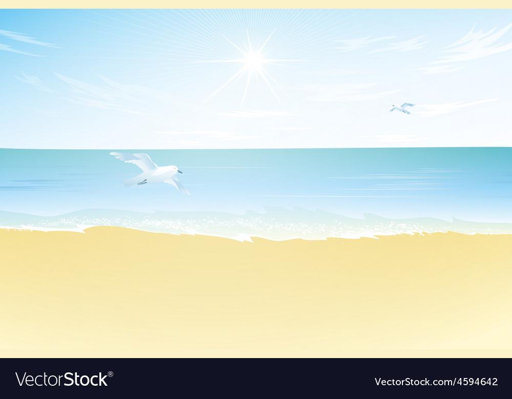 Seascape  paradise beach vector | Price: 3 Credit (USD $3)