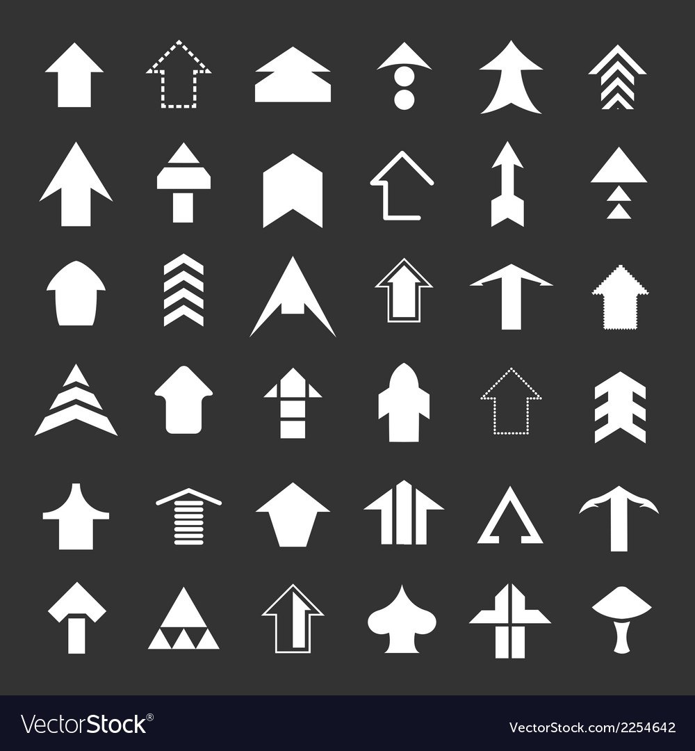 Set icons of arrows vector | Price: 1 Credit (USD $1)