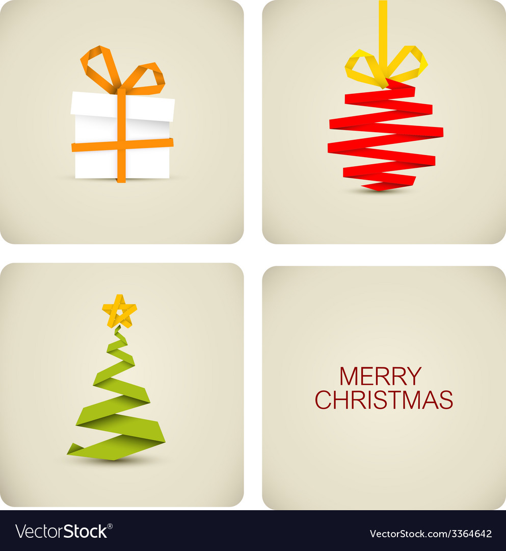 Simple christmas decoration made from paper vector | Price: 1 Credit (USD $1)