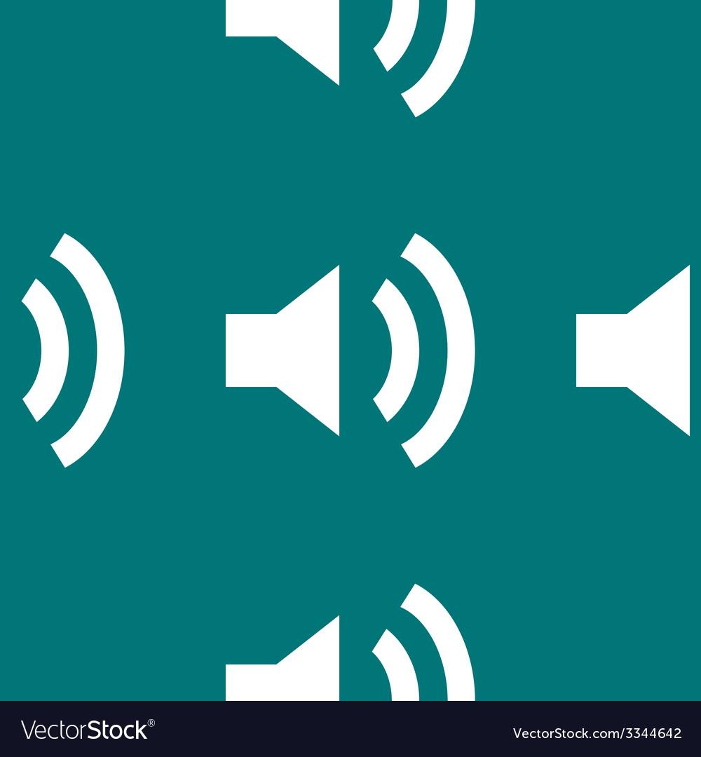 Speaker web icon flat design seamless pattern vector   Price: 1 Credit (USD $1)