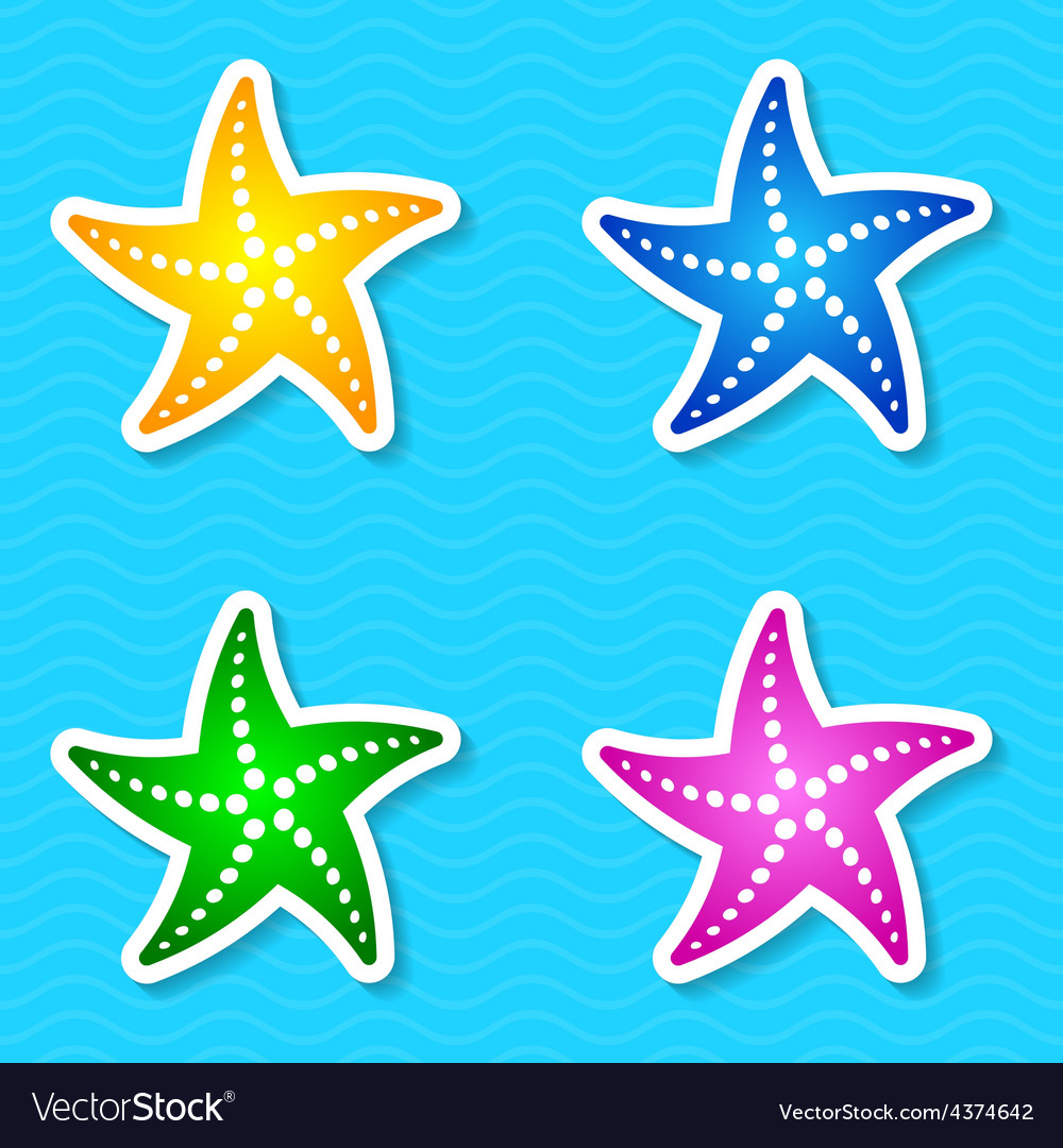 Starfish labels vector | Price: 1 Credit (USD $1)