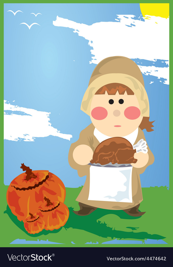 Thanksgiving cartoon vector | Price: 1 Credit (USD $1)