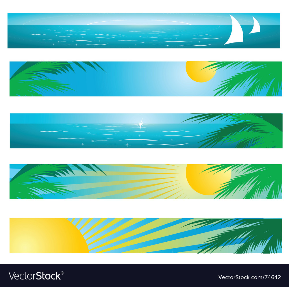 Tropical background banners vector | Price: 1 Credit (USD $1)