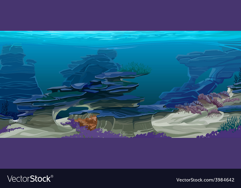 Underwater topography vector | Price: 3 Credit (USD $3)