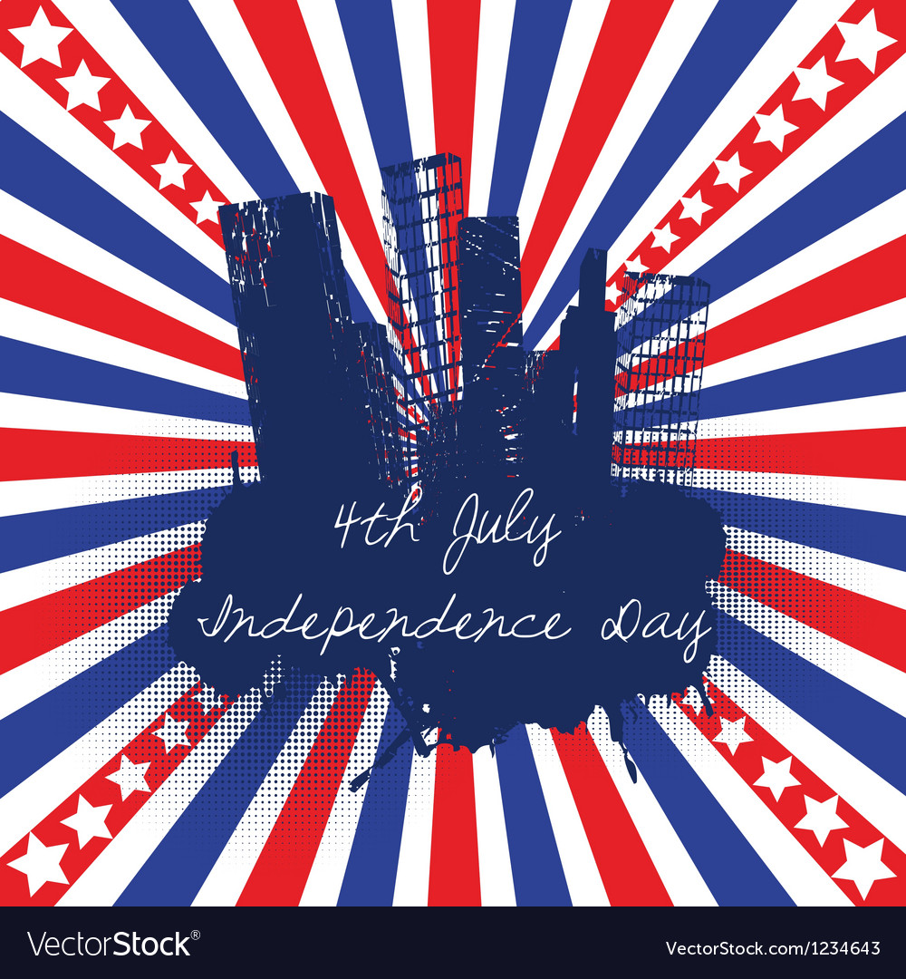 4th of july celebration background vector | Price: 1 Credit (USD $1)