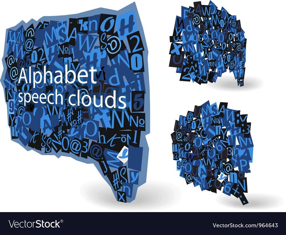 Blue talk bubbles vector | Price: 1 Credit (USD $1)