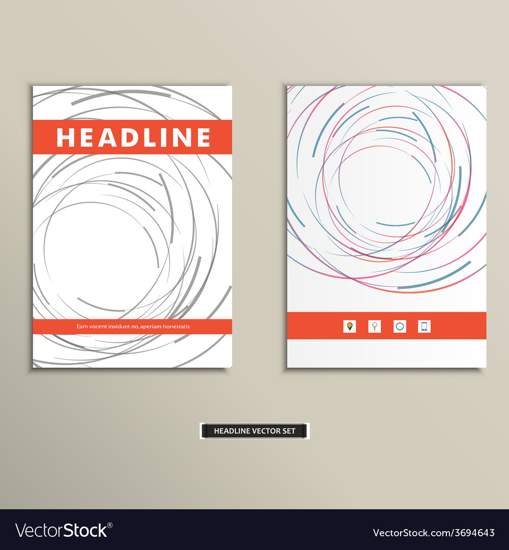 Book cover with abstract colored lines and circles vector   Price: 1 Credit (USD $1)