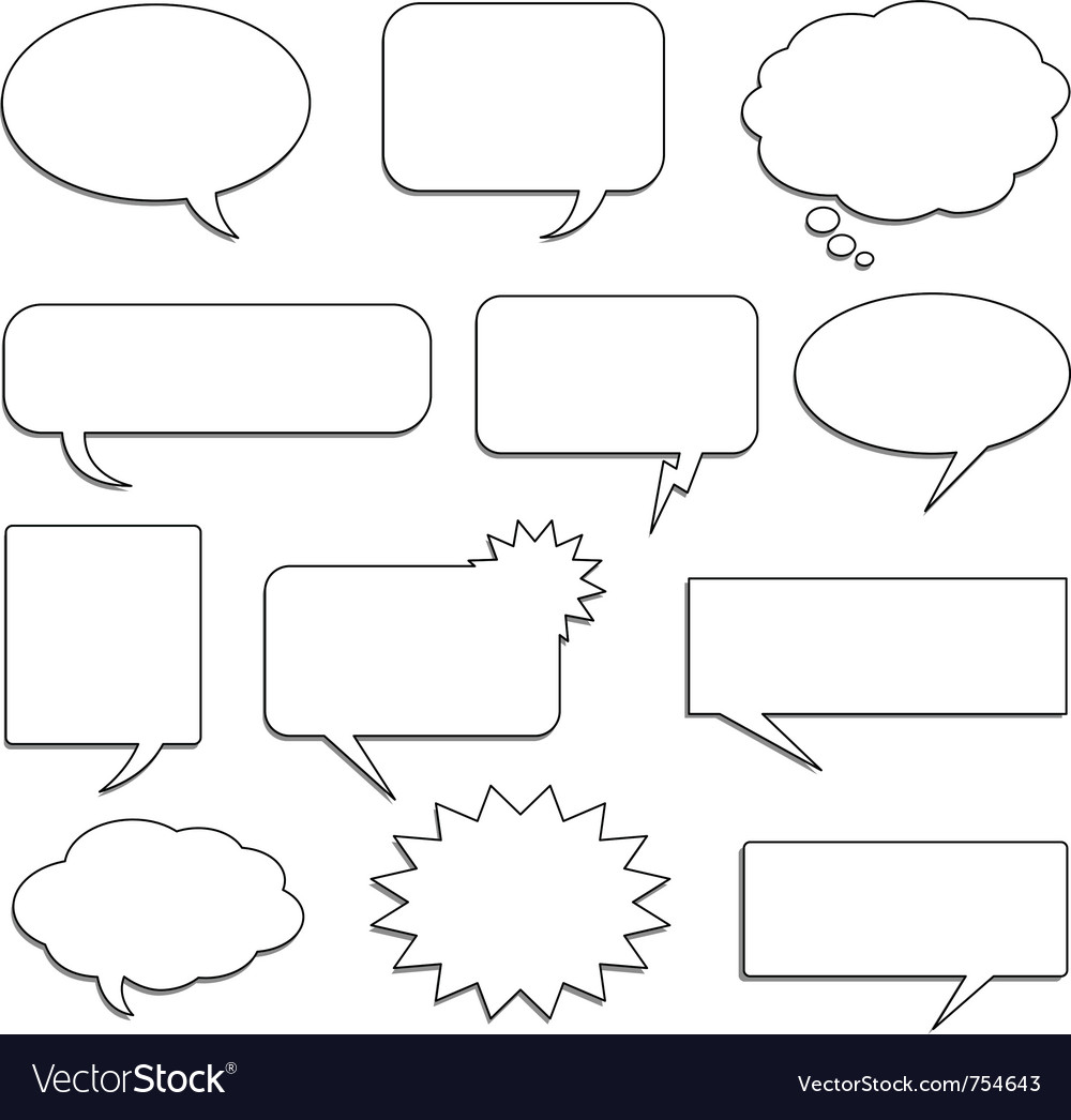Comic speech bubbles vector | Price: 1 Credit (USD $1)