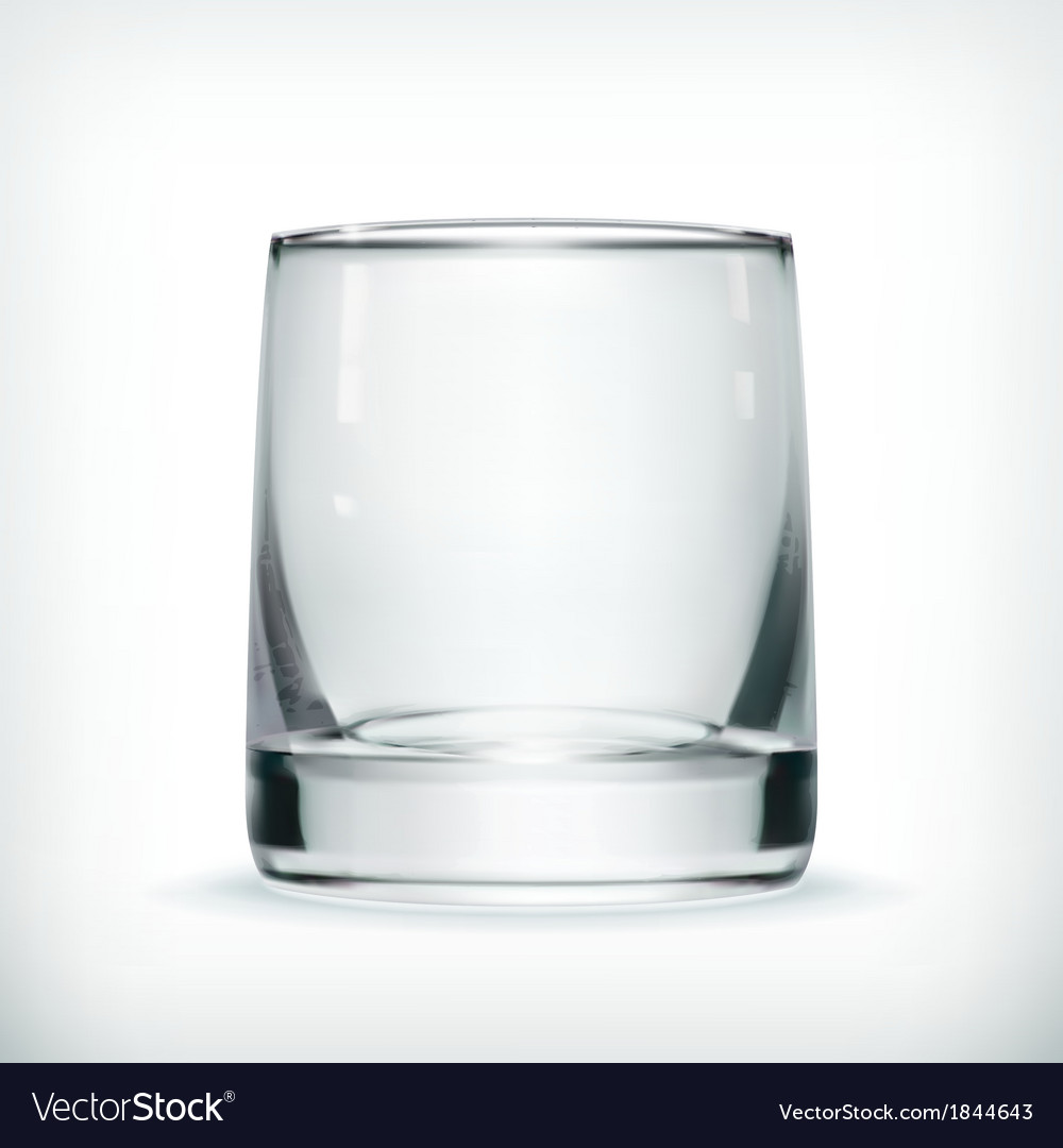 Empty glass with transparency vector | Price: 1 Credit (USD $1)