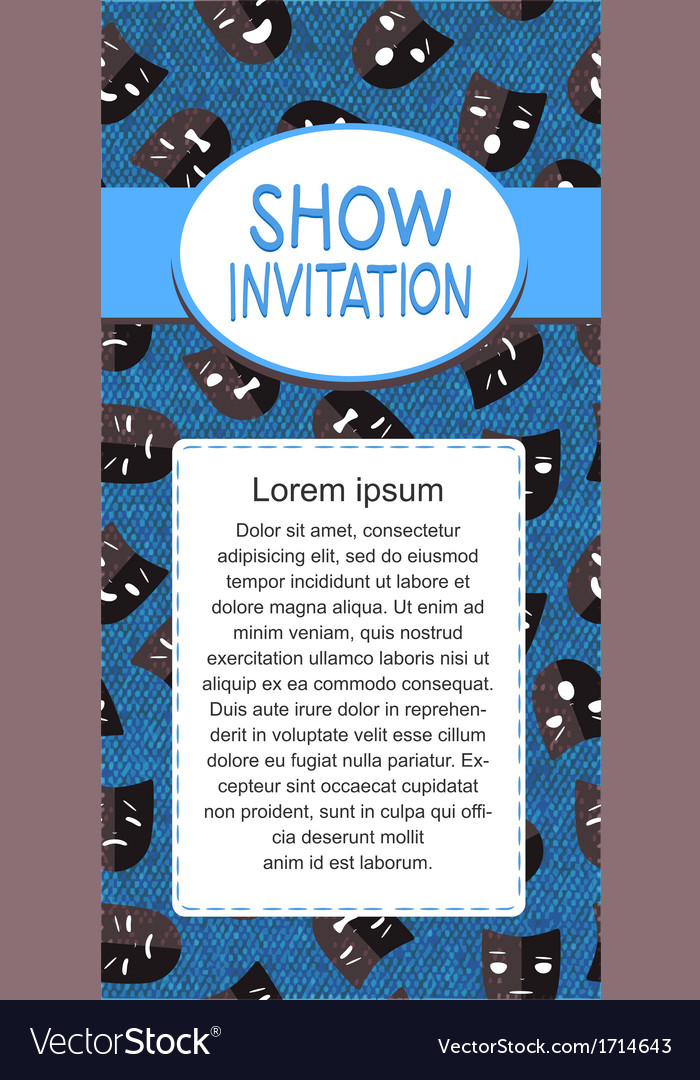 Show invitation vector | Price: 1 Credit (USD $1)
