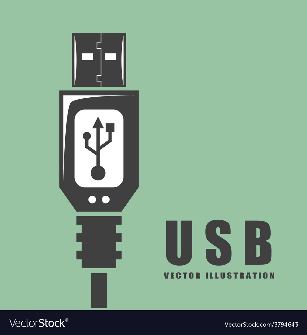 Usb connection vector | Price: 1 Credit (USD $1)