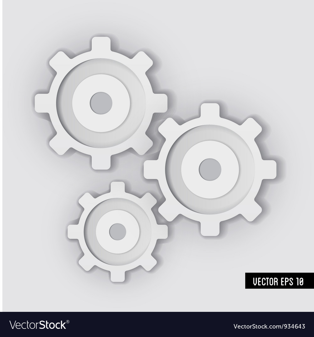 White gear system vector | Price: 1 Credit (USD $1)