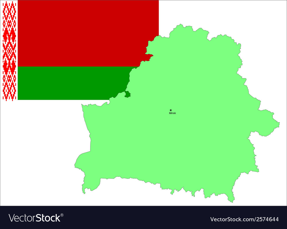 6216 belarus map and flag vector | Price: 1 Credit (USD $1)