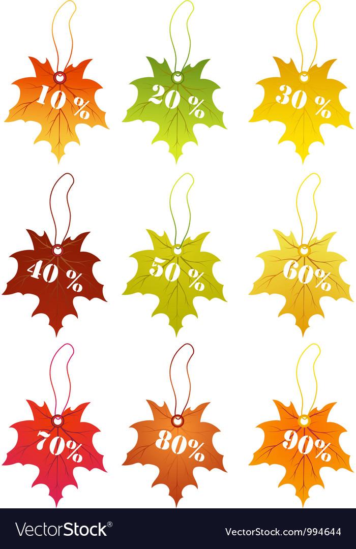 Autumn sale labels vector   Price: 1 Credit (USD $1)