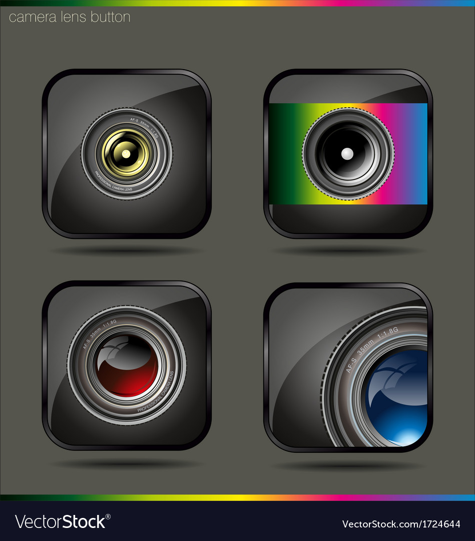 Camera lens button vector | Price: 1 Credit (USD $1)