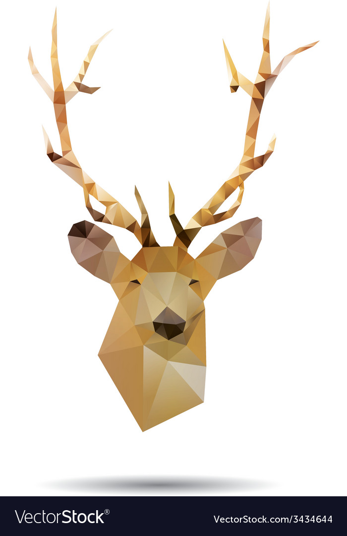 Deer head abstract vector | Price: 1 Credit (USD $1)