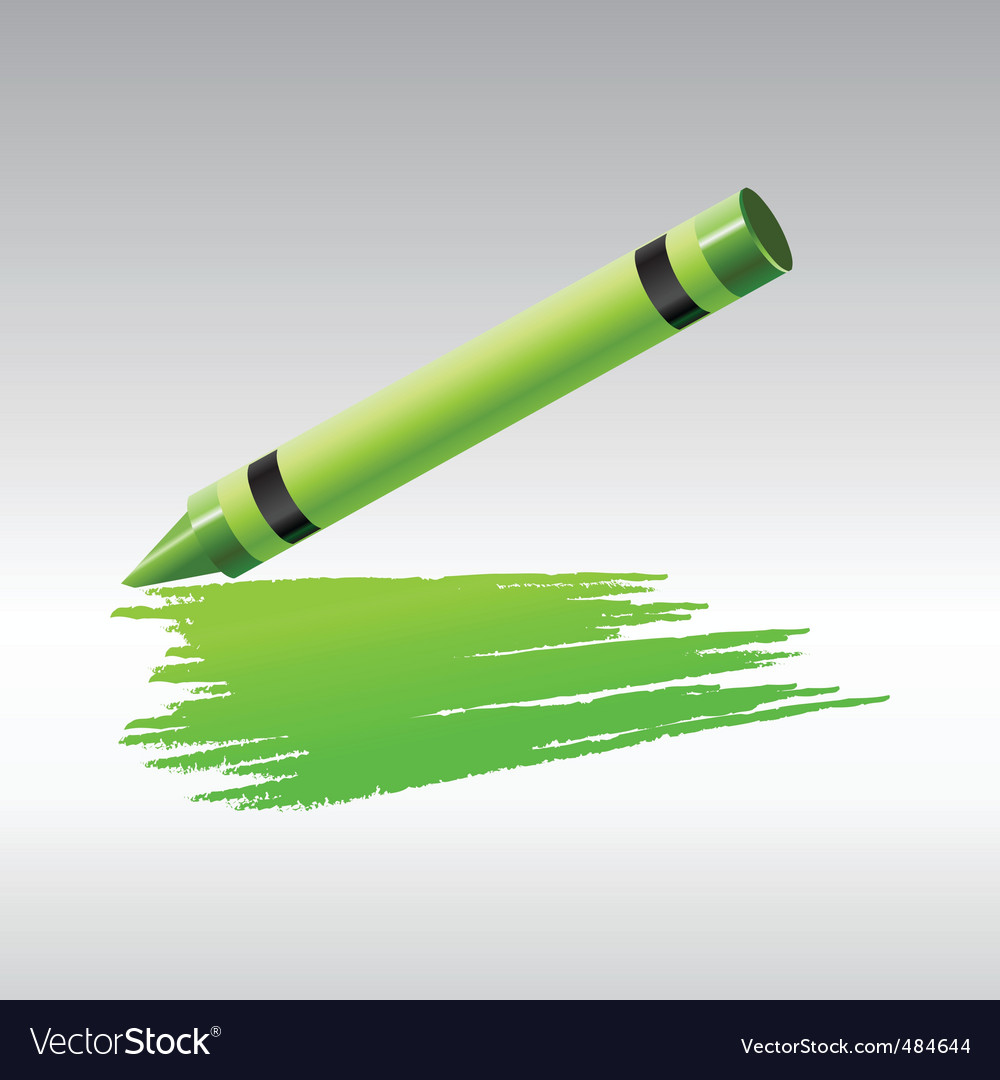 Green crayon vector | Price: 1 Credit (USD $1)