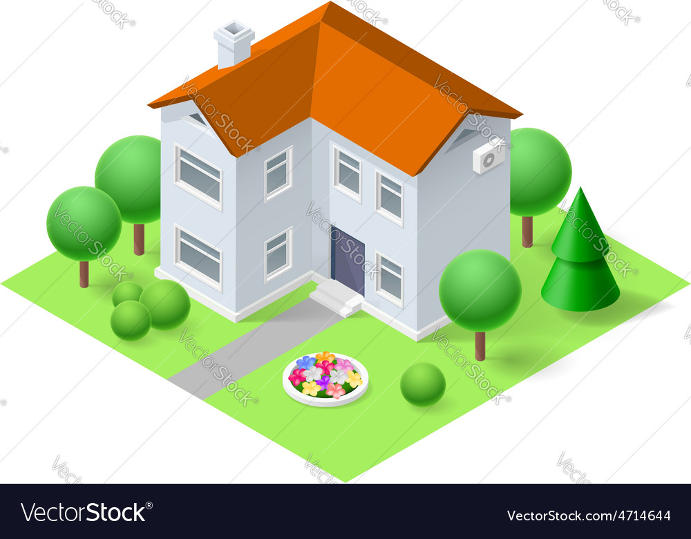 Isometric home vector | Price: 1 Credit (USD $1)