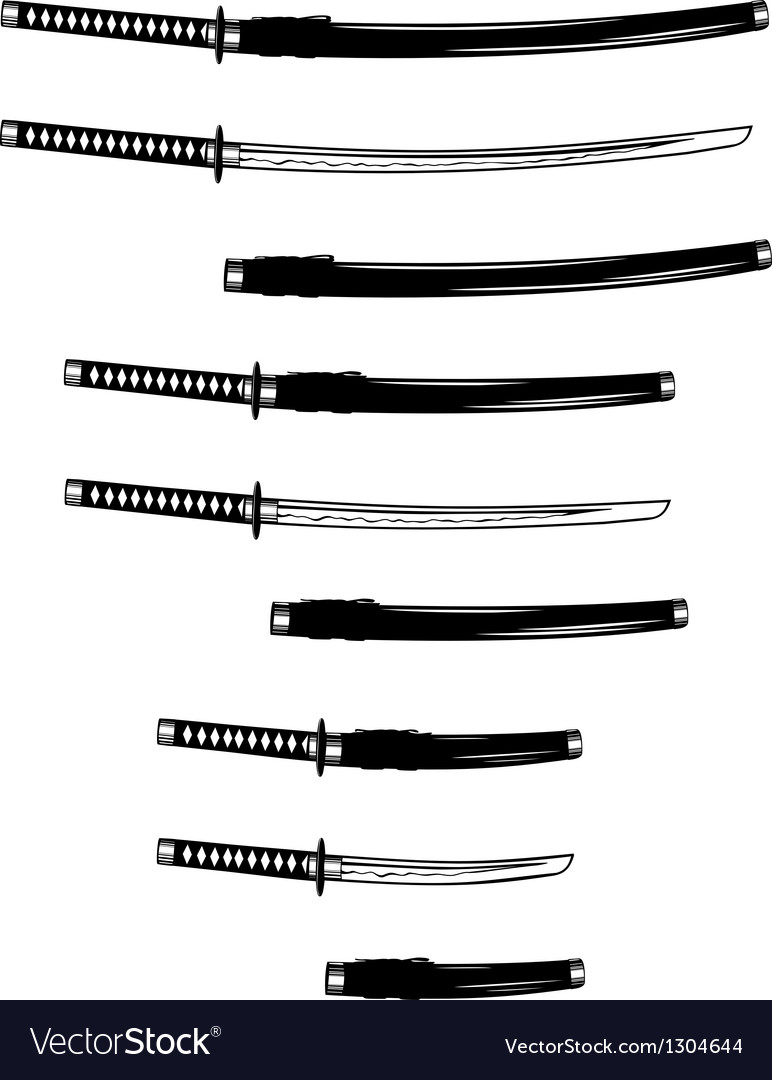 Katana wakizashi and tanto vector | Price: 1 Credit (USD $1)