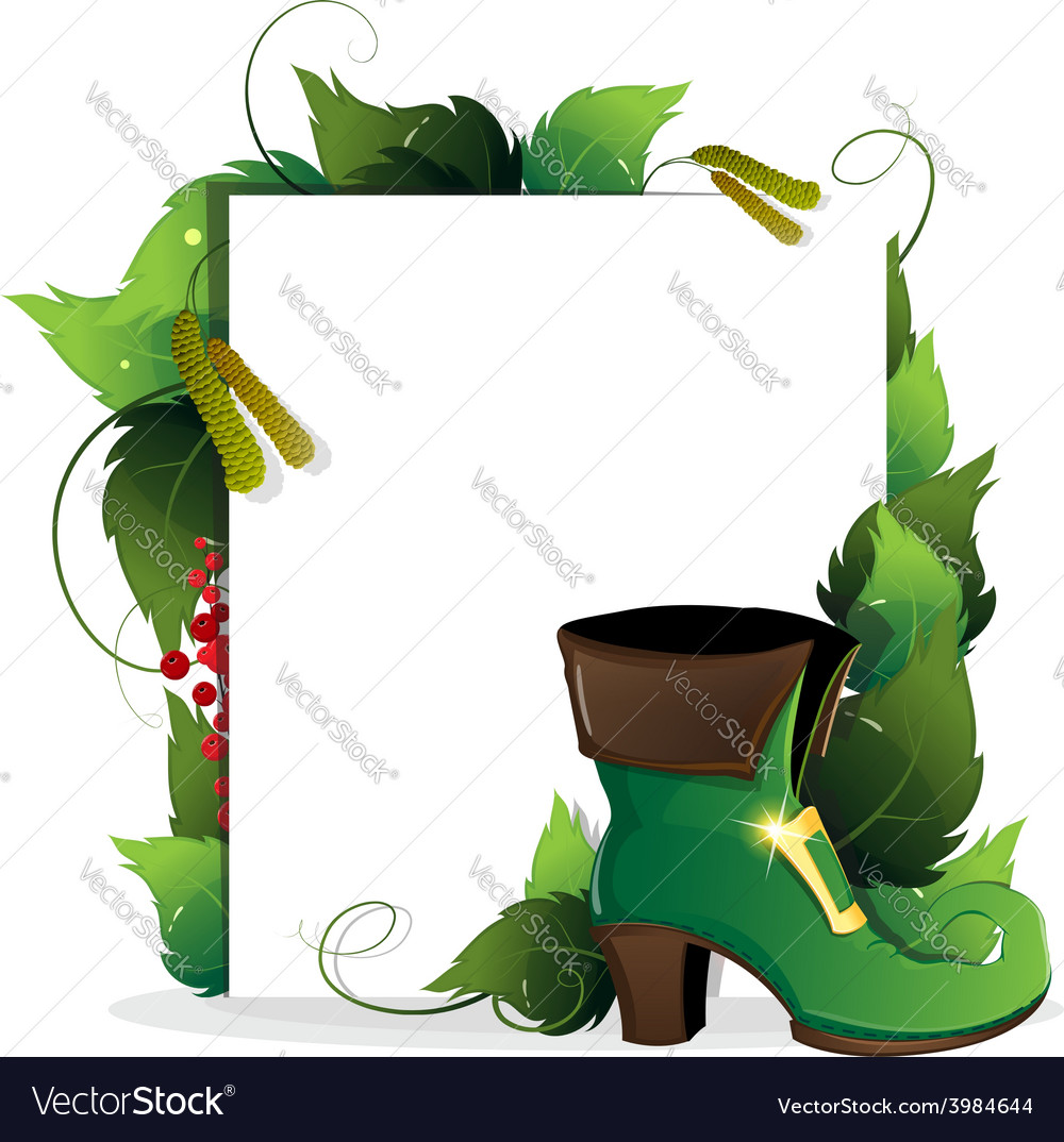 Leprechaun shoe with gold buckle vector | Price: 1 Credit (USD $1)