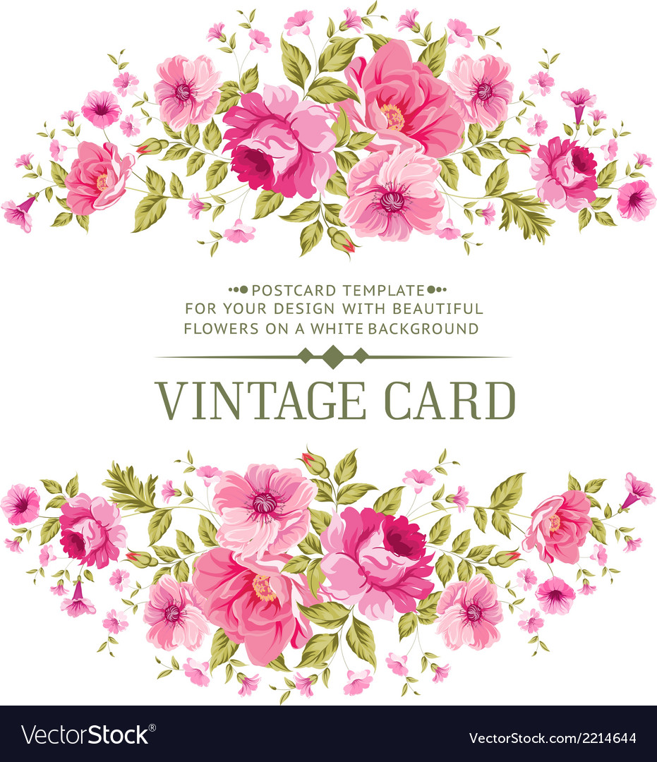Luxurious color rose card vector | Price: 1 Credit (USD $1)