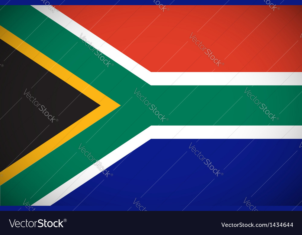 National flag of south africa vector | Price: 1 Credit (USD $1)