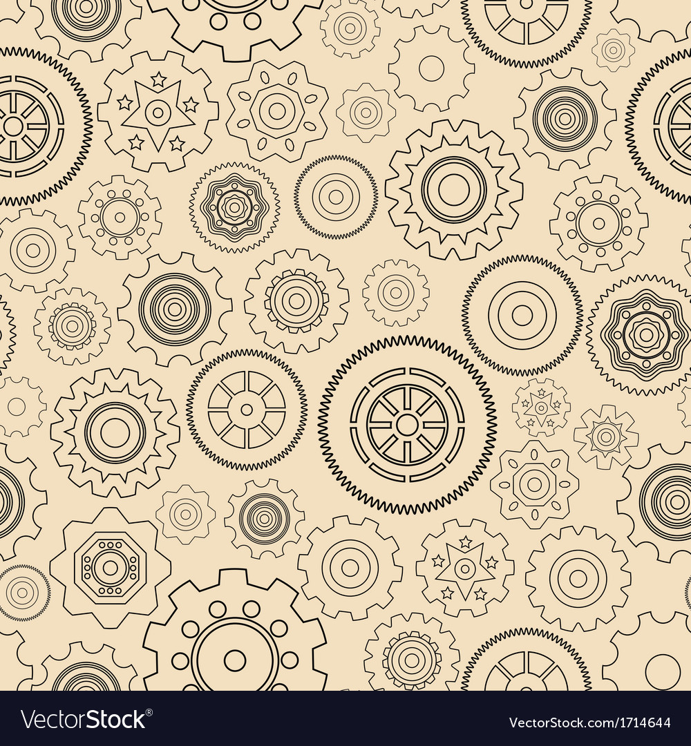 Seamless gear wheels pattern vector | Price: 1 Credit (USD $1)