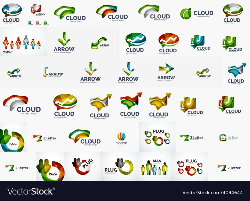 Speech bubble and arrows logo set vector | Price: 1 Credit (USD $1)