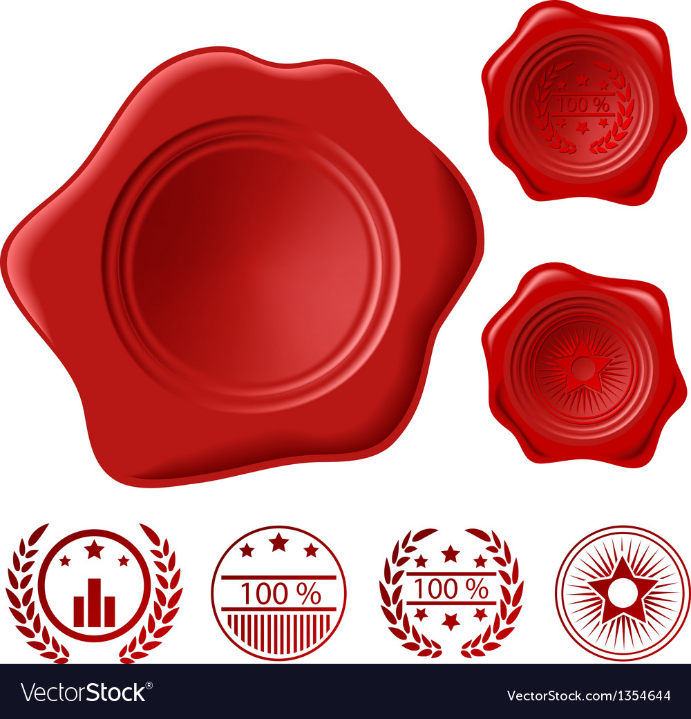Wax seal set vector | Price: 1 Credit (USD $1)
