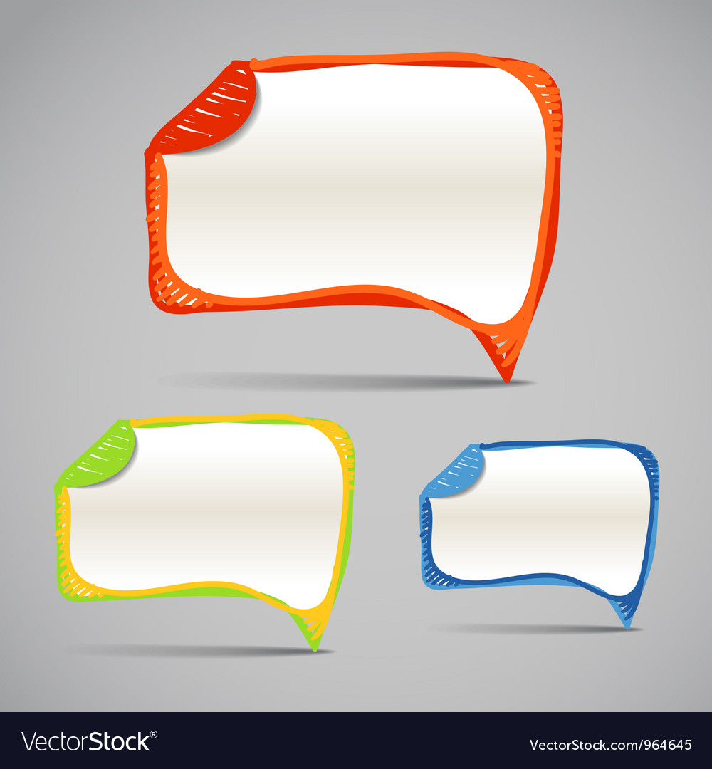 Background of abstract talking bubbles vector | Price: 1 Credit (USD $1)