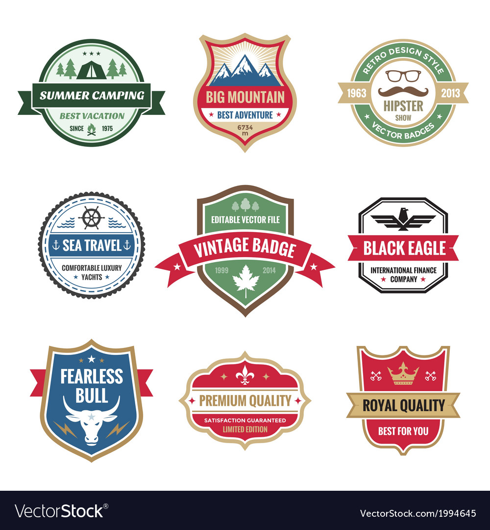 Badges collection in format vector | Price: 1 Credit (USD $1)