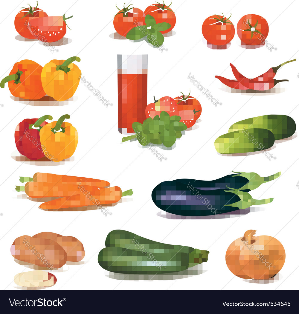 Big group of vegetables vector | Price: 3 Credit (USD $3)